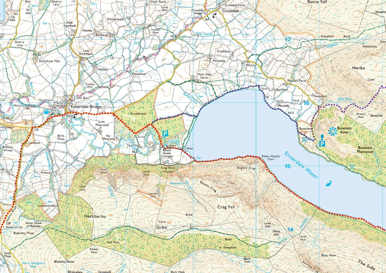 C2C Maps 1 to 9 : Lakeland Routes